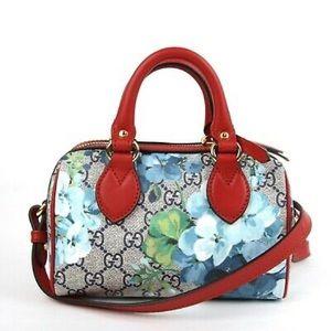 Gucci gg supreme mini blooms crossbody bag